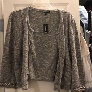 Cropped sweater/cardigan from express
